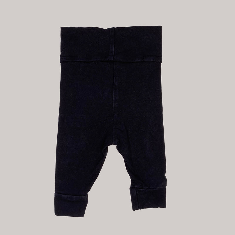 Re-wear : Mini Rodini basic leggarit, black | 56cm