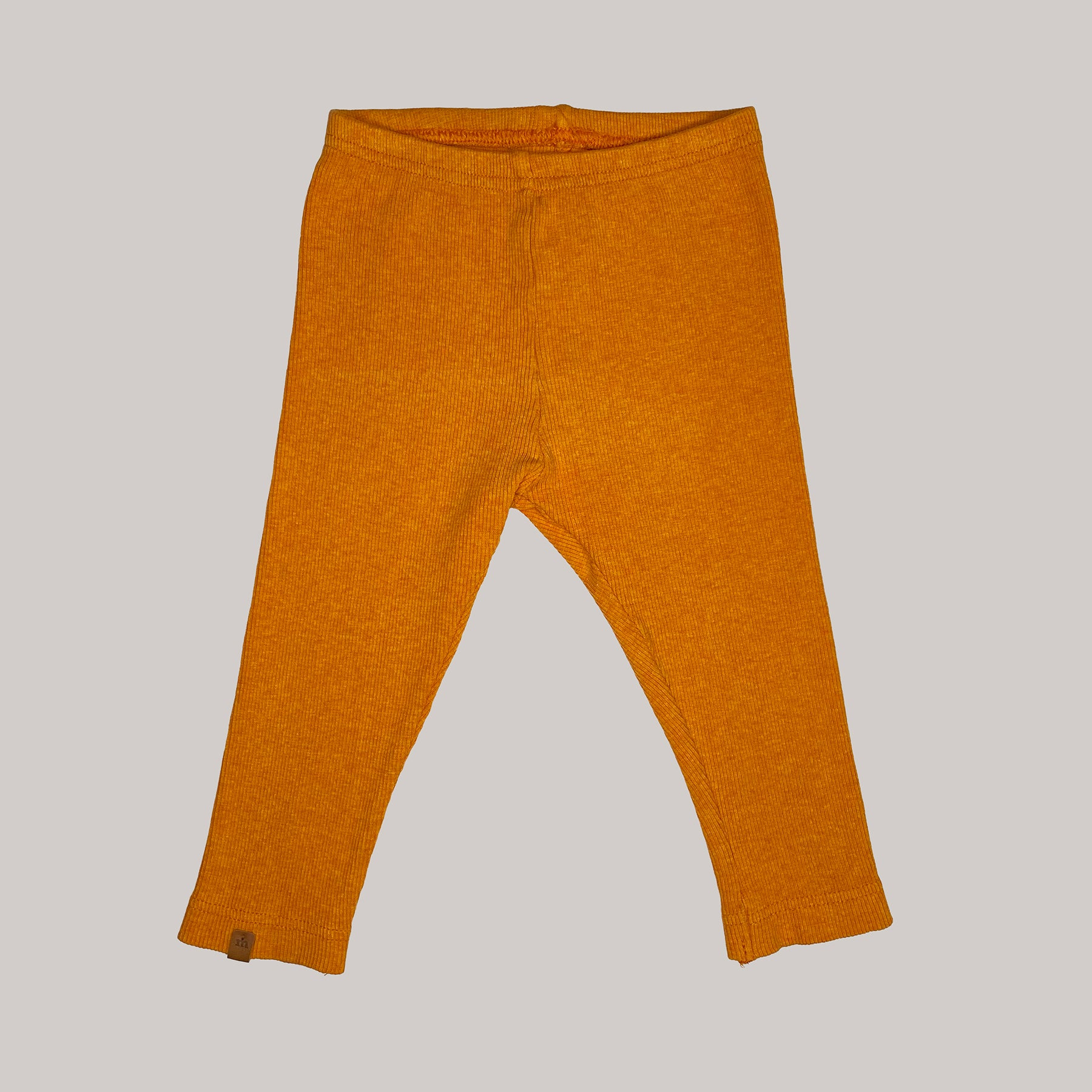 Re-wear : Metsola rib leggings, orange | 74/80cm