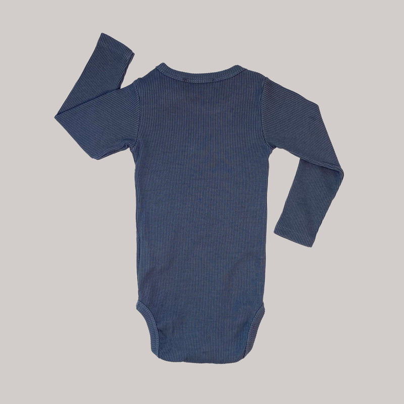 Re-wear : Bobo Choses Always Never rib body, grey | 68cm