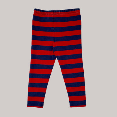 Re-wear : Mini Rodini stripe leggarit, red/ navy | 80/86cm