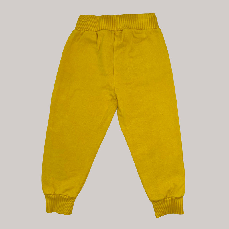 Re-wear : Mini Rodini panther college housut, yellow | 80/86cm