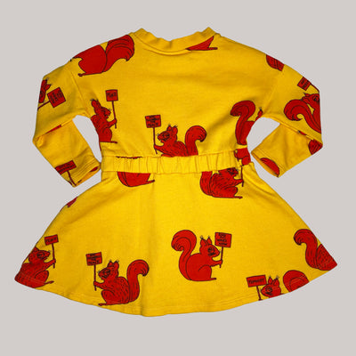 Re-wear : Mini Rodini squirrel mekko, yellow | 80/86cm
