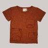 Re-wear : Mainio tasku tee, rust | 86/92cm