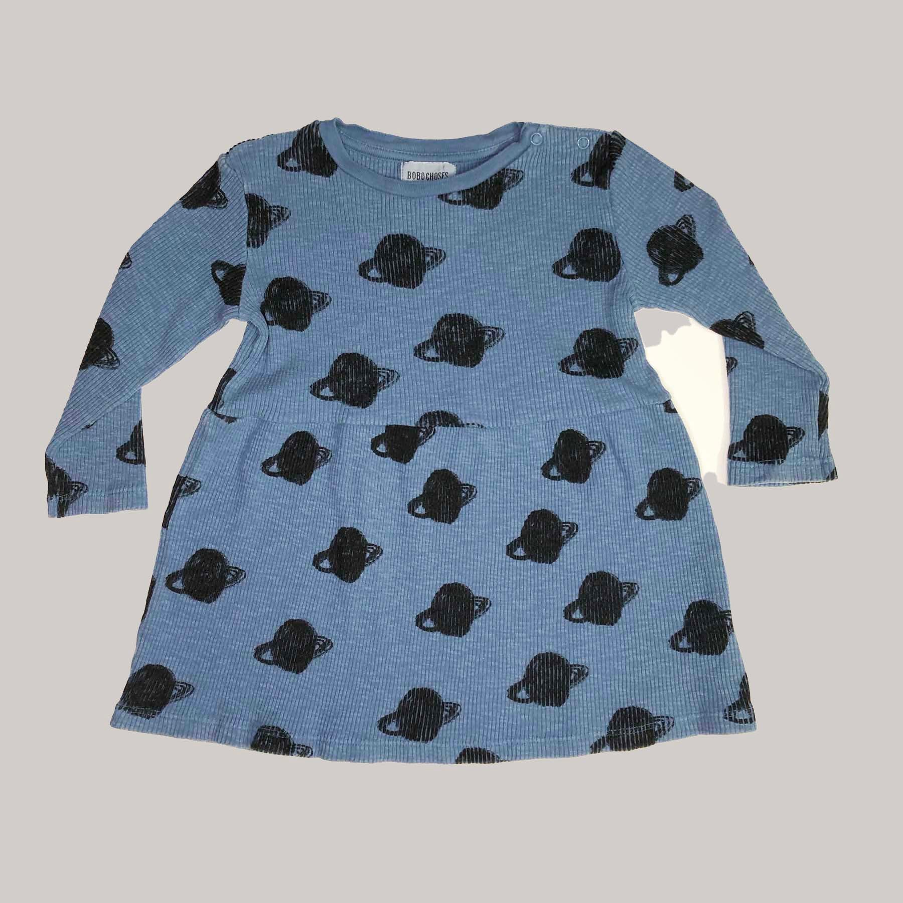 Re-wear : Bobo Choses saturn mekko, blue  | 86cm
