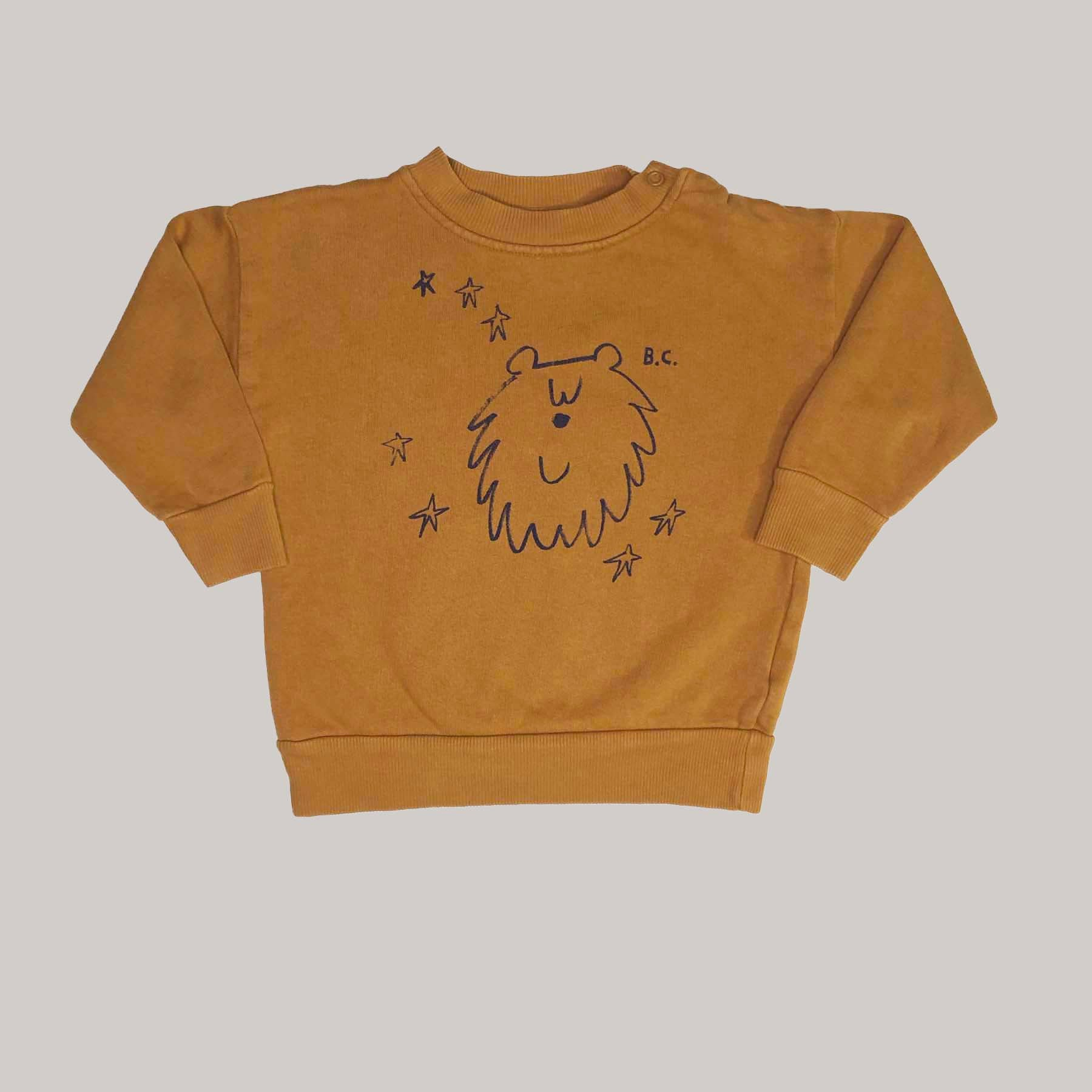Re-wear : Bobo Choses bear collegepaita, brown  | 86cm