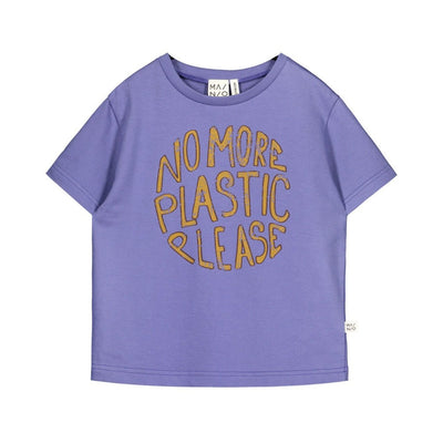 Mainio no more plastic sweat tee, blue iris