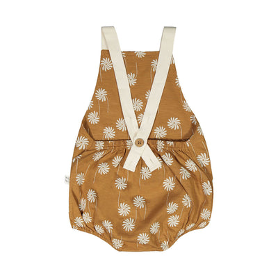 Mainio flower power romper, bone brown