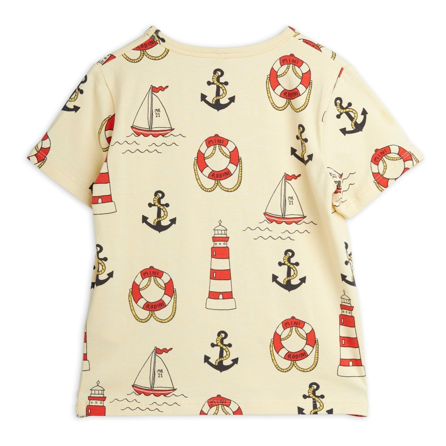 Mini Rodini lighthouse tee, yellow