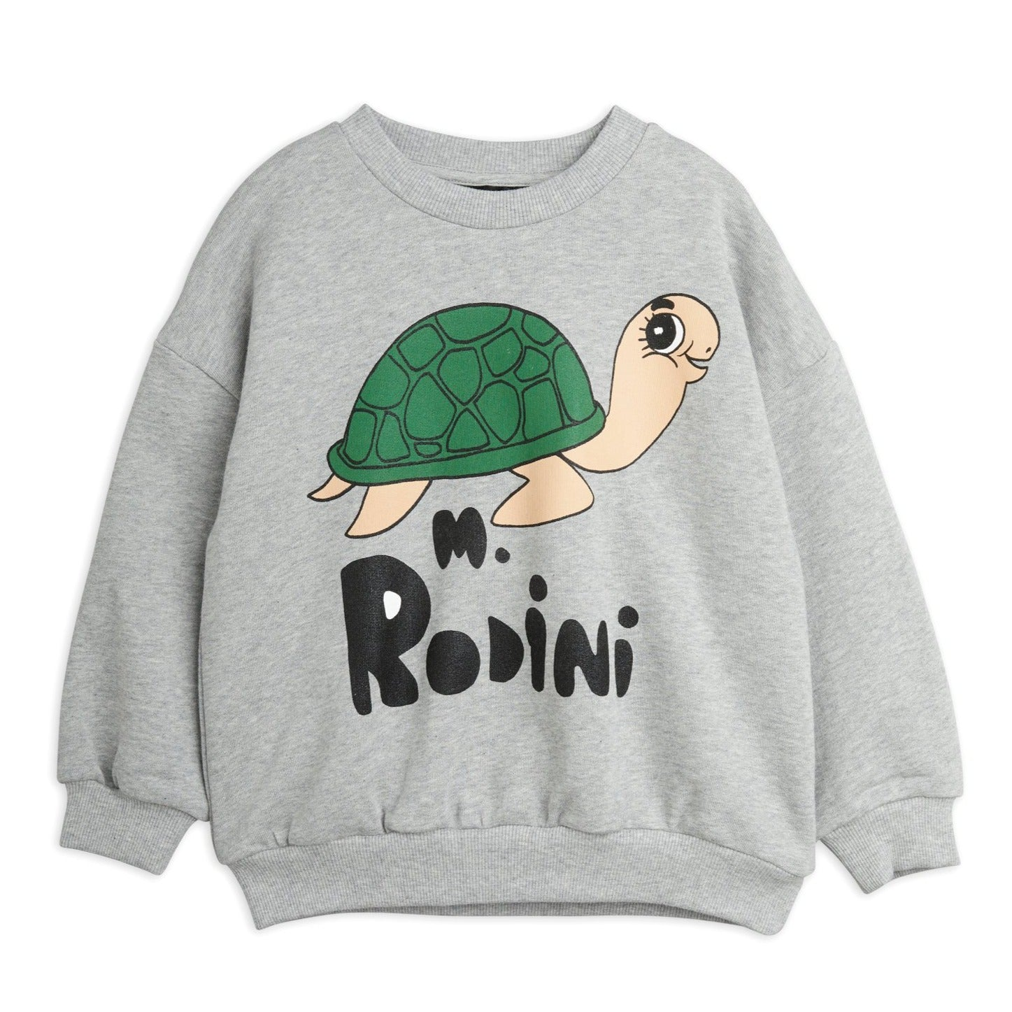 Mini Rodini turtle svetari, grey melange