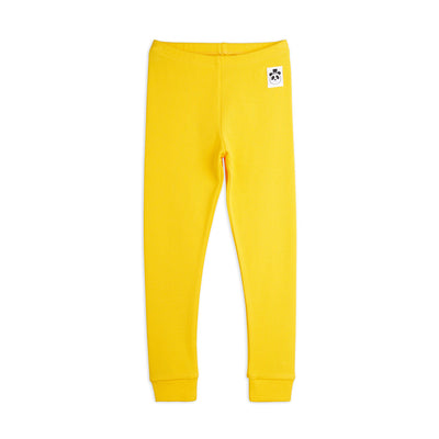 Mini Rodini rib leggarit, yellow