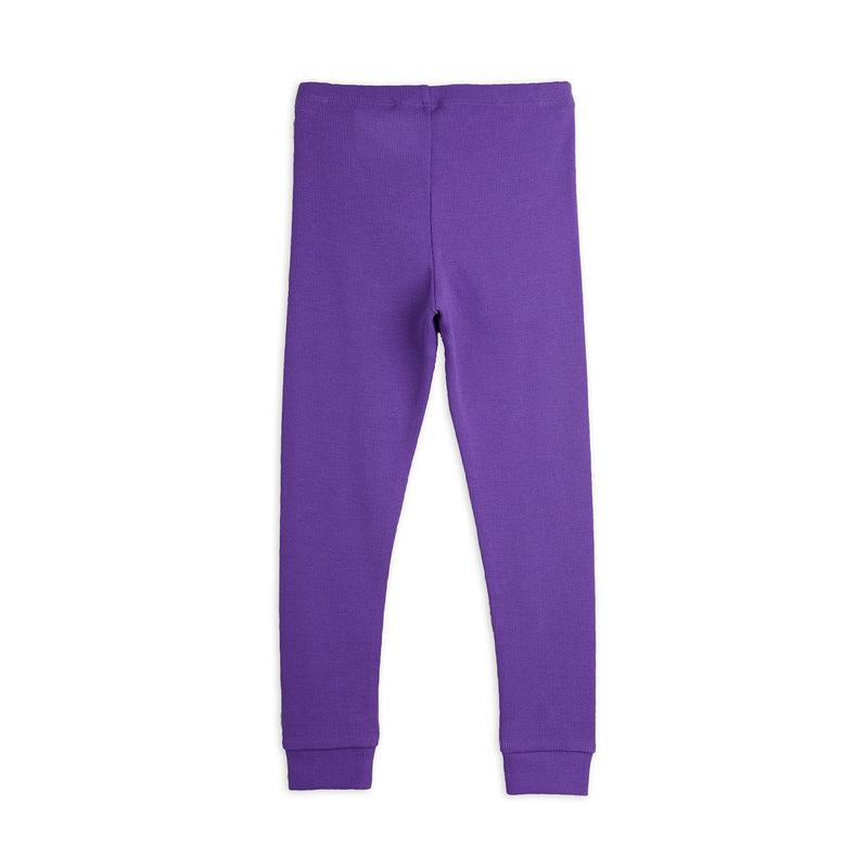 Mini Rodini rib leggarit, purple