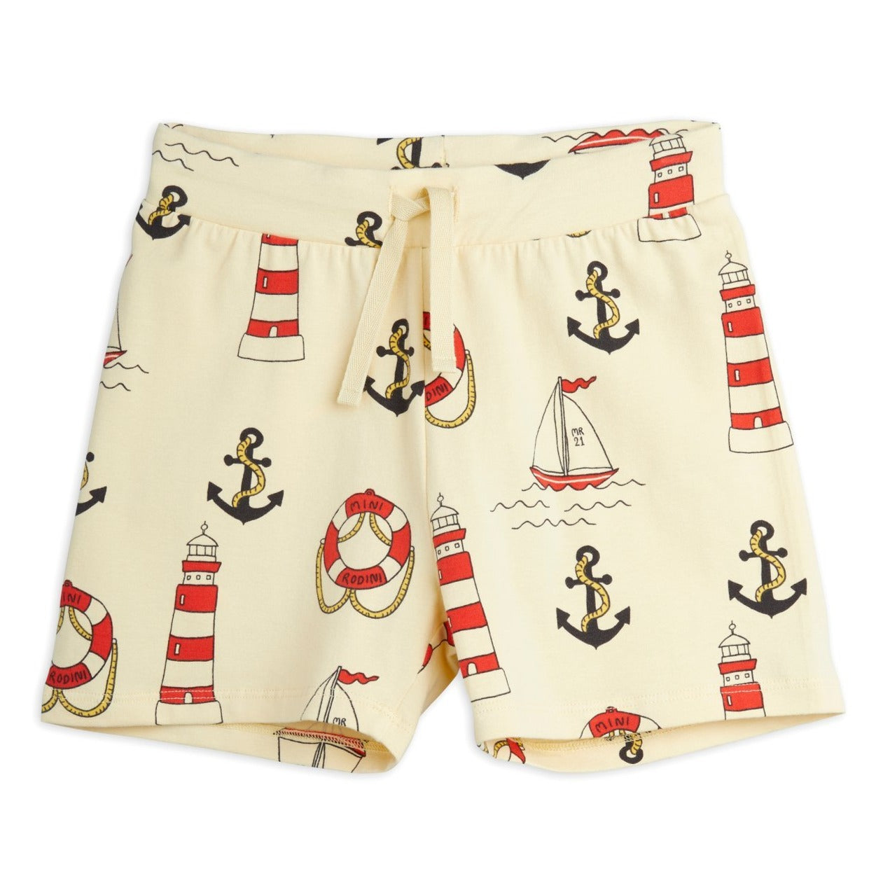 Mini Rodini lighthouse shortsit, yellow