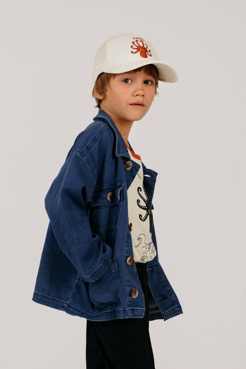Mini Rodini denim safari takki, blue