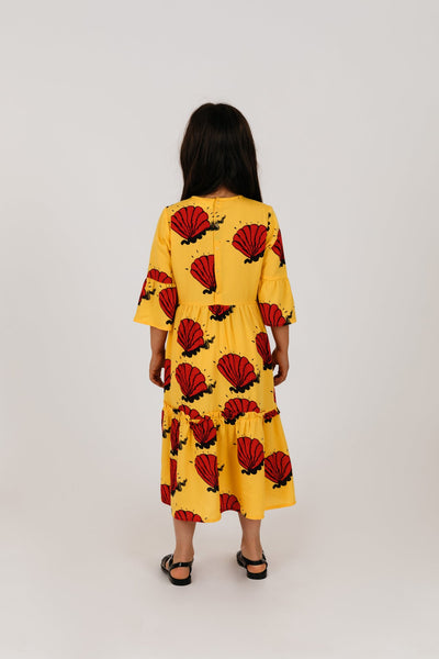 Mini Rodini shell woven mekko, yellow