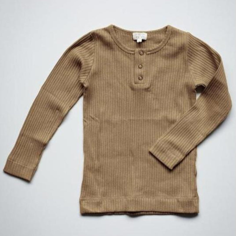 The Simple Folk ribbed paita, camel