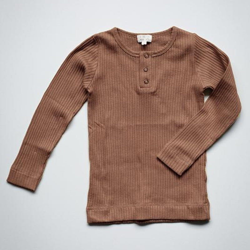 The Simple Folk ribbed paita, cinnamon