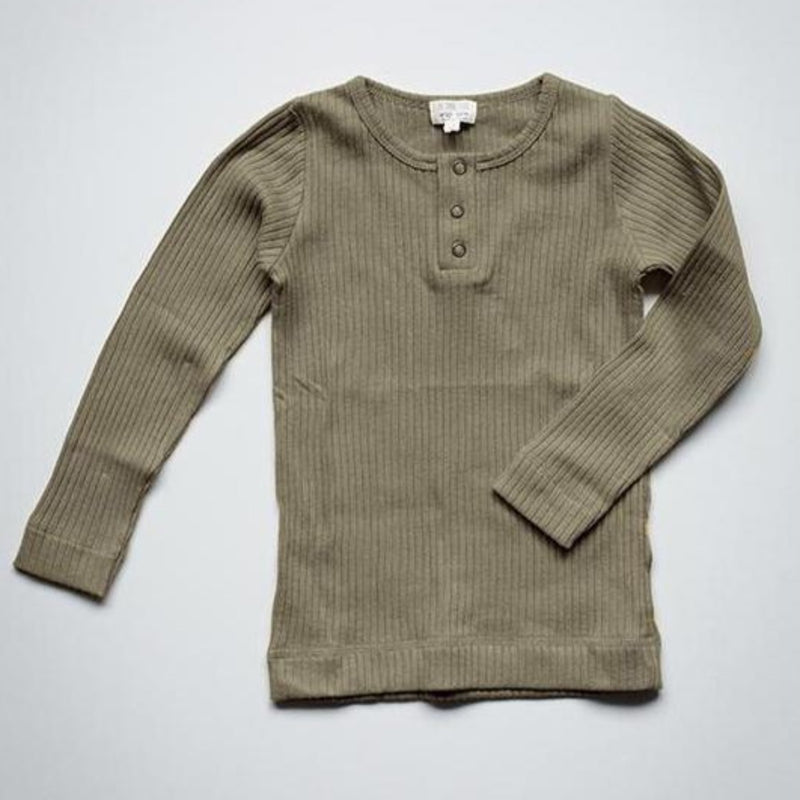 The Simple Folk ribbed paita, sage