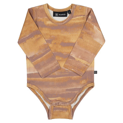 Kaiko print body, ginger canvas