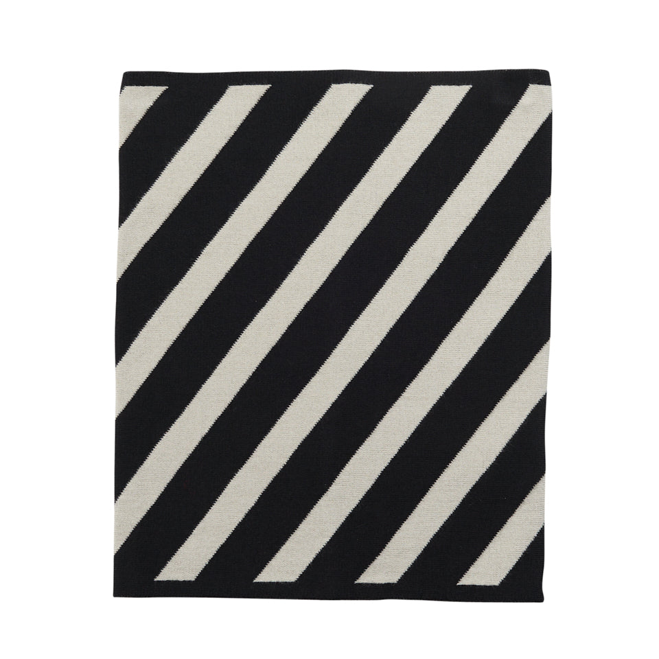 Papu jaquard stripe tube huivi, black /silent grey