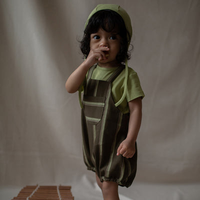 Monkind forest romper body, green