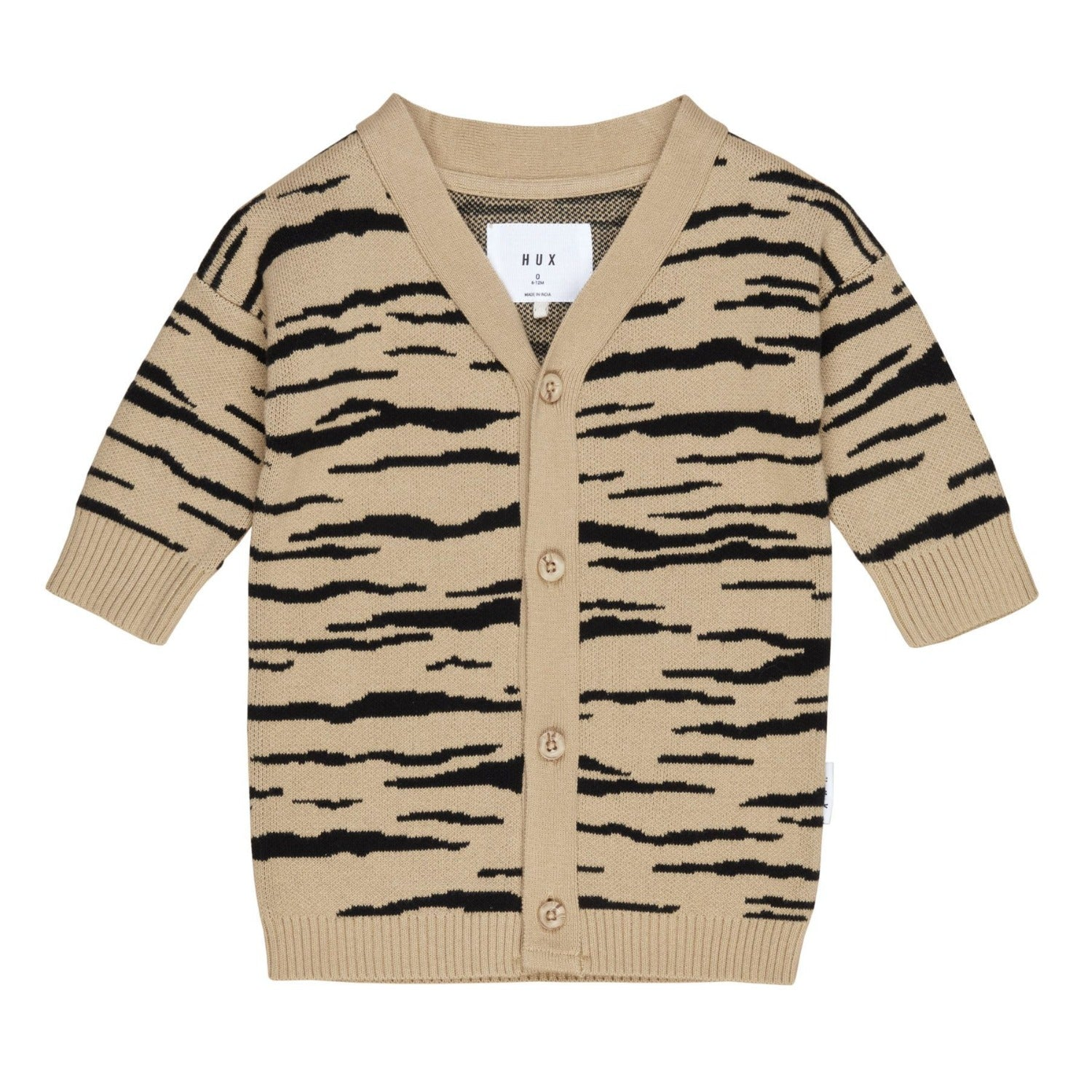 Huxbaby wildcat knit cardi, honey