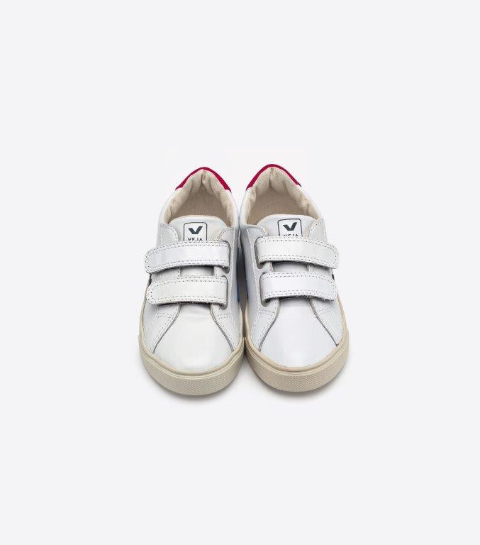 Veja Esplar velcro leather junior tarralenkkarit, extra white/nautico pekin