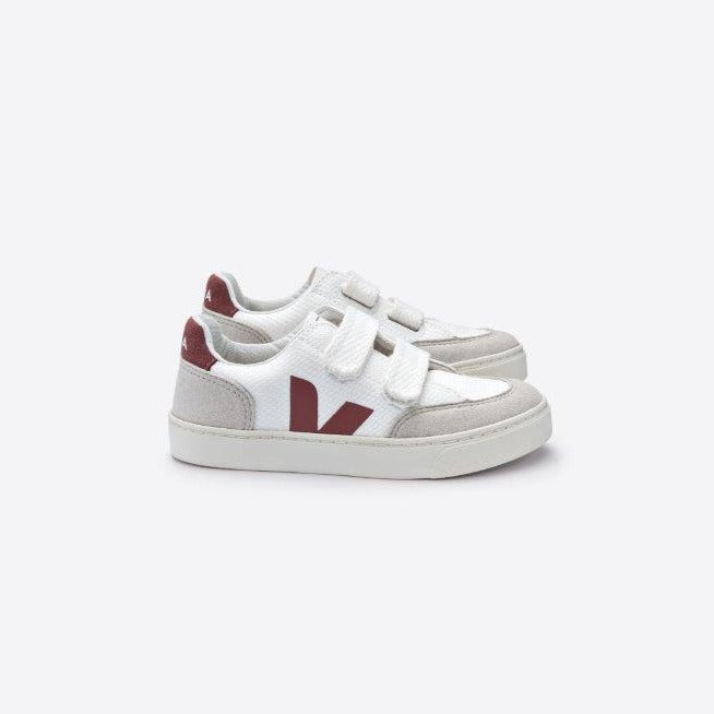 Veja V-12 B-mesh junior tarralenkkari, white/dried petale
