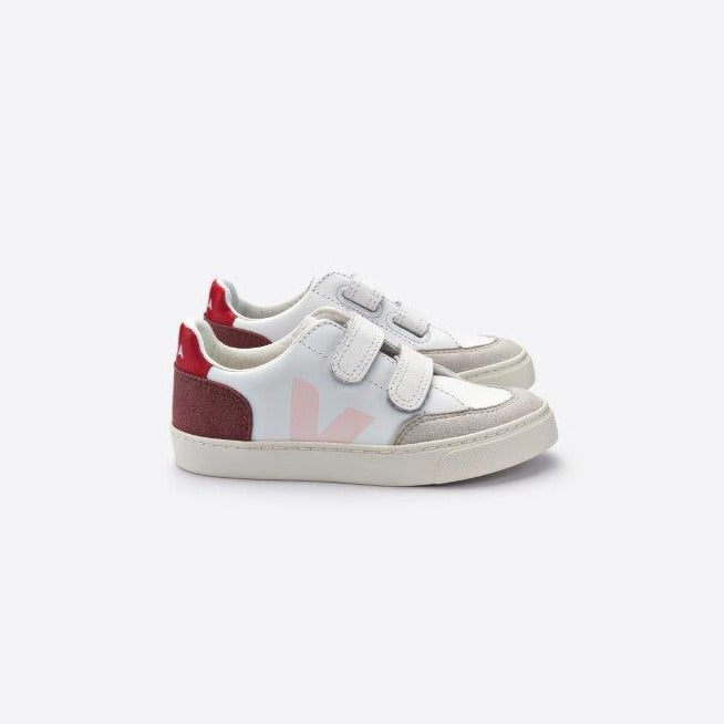 Veja V-12 leather junior tarralenkkari, multico/petale