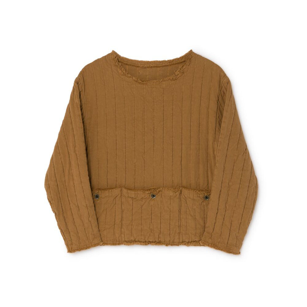 Little Creative Factory quilted jersey paita, camel