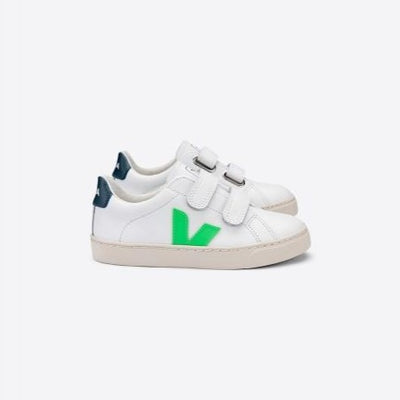 Veja Esplar velcro leather tarralenkkarit, extra white / absinthe california