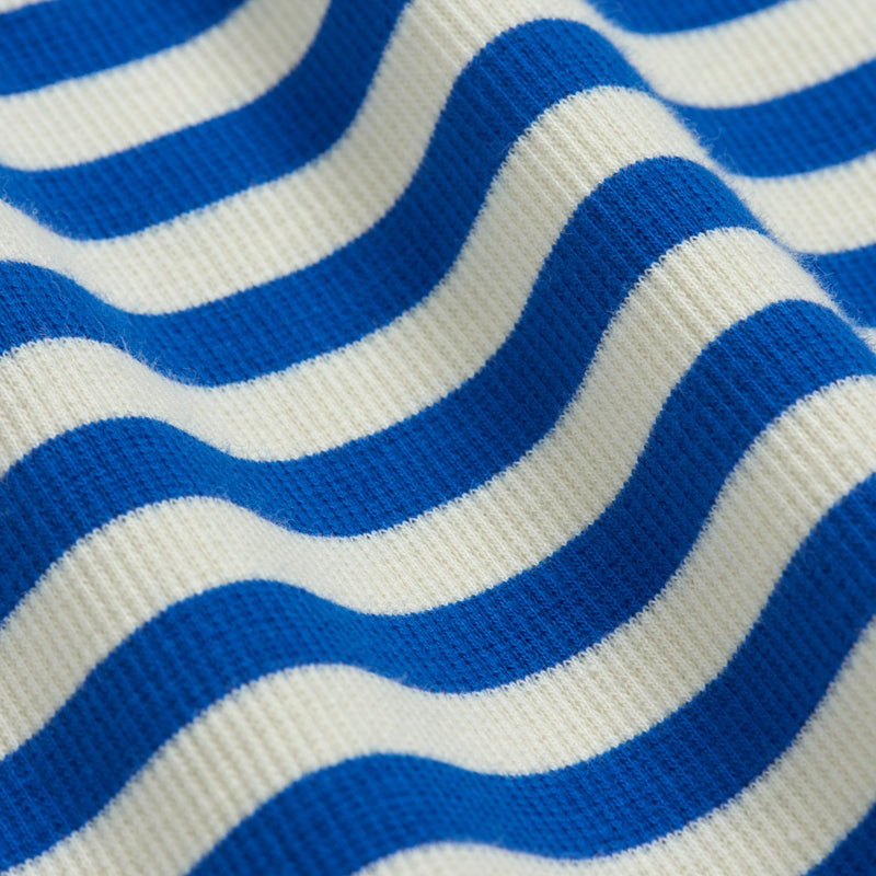 Mini Rodini stripe rib ss tee, blue
