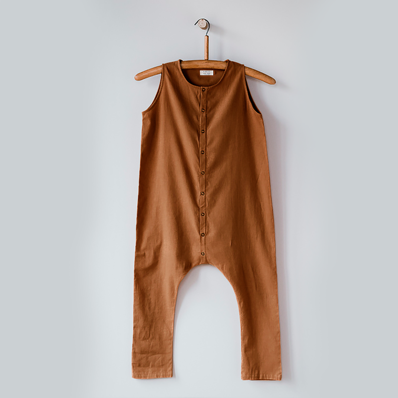 The Simple Folk forest playsuit puku, rust
