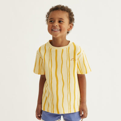 Mainio sand wave tee, straw