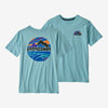 Patagonia boys' graphic rights tee, big sky blue