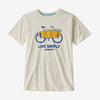 Patagonia boys' graphic bike tee, white was