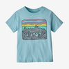 Patagonia baby fitz roy skies tee, big sky blue