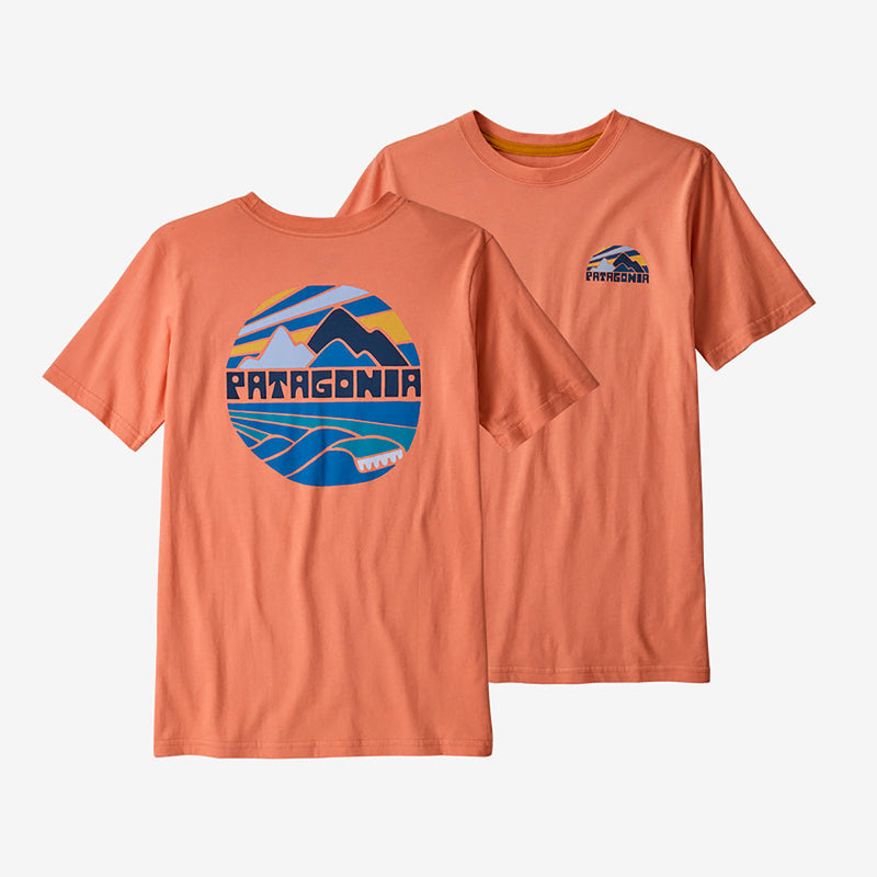 Patagonia boys' graphic rights tee, mellow melon