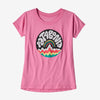 Patagonia girl's graphic bubble tee, marble pink