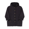 Little Creative Factory quilted hooded takki, black