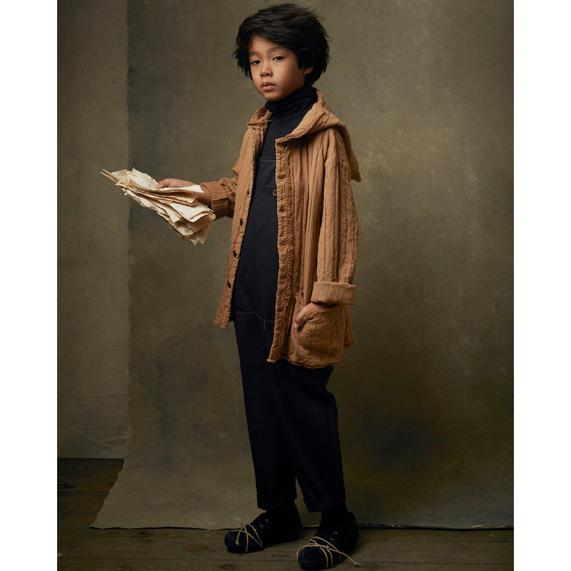 Little Creative Factory quilted hooded takki, camel