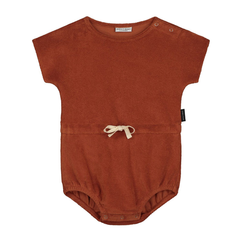 Daily Brat joe towel romper, burlywood