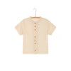 Little Creative Factory muslin tee, cream