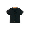 Little Creative Factory muslin tee, black