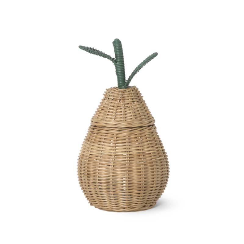 Ferm Living small pear punottu kori, natural