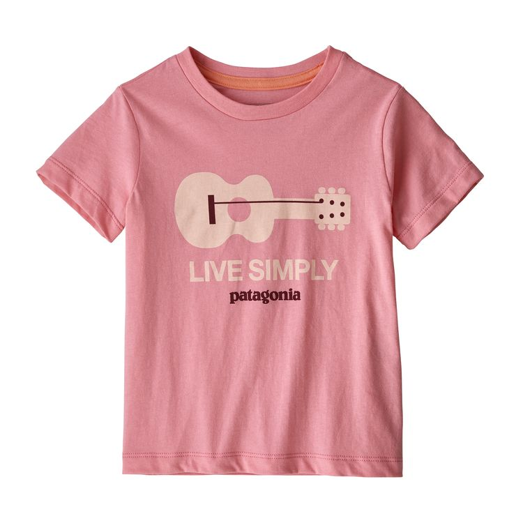 Patagonia baby live simply guitar tee, petra pink