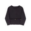 Little Creative Factory quilted jersey paita, black