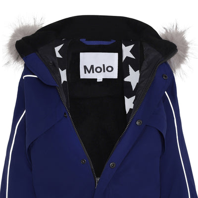 Molo polaris fur recycle talvihaalari, ink blue