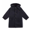 Little Creative Factory wax hooded takki, black