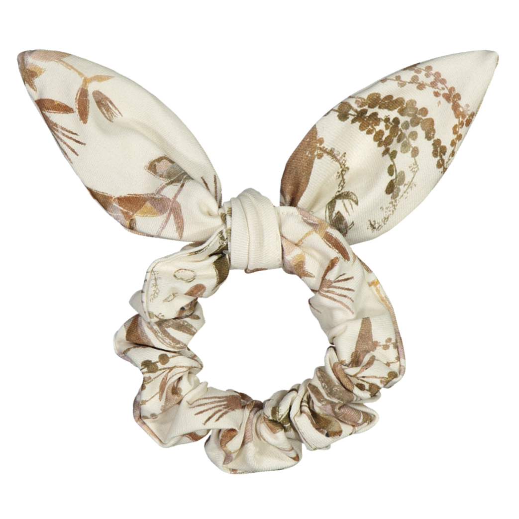 Kaiko bow scrunchie, dried botany