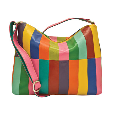 Genuine Leather Rainbow Messenger Bag